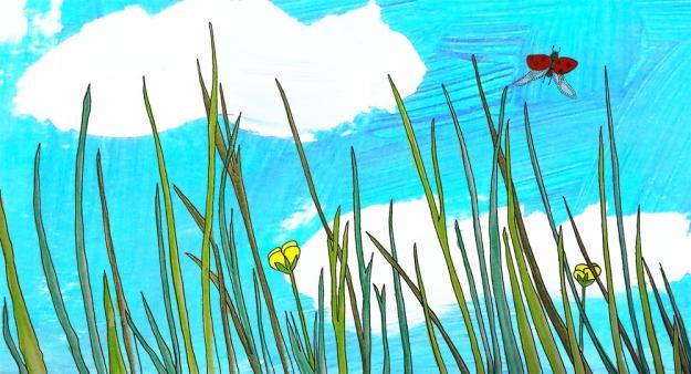 I gräset